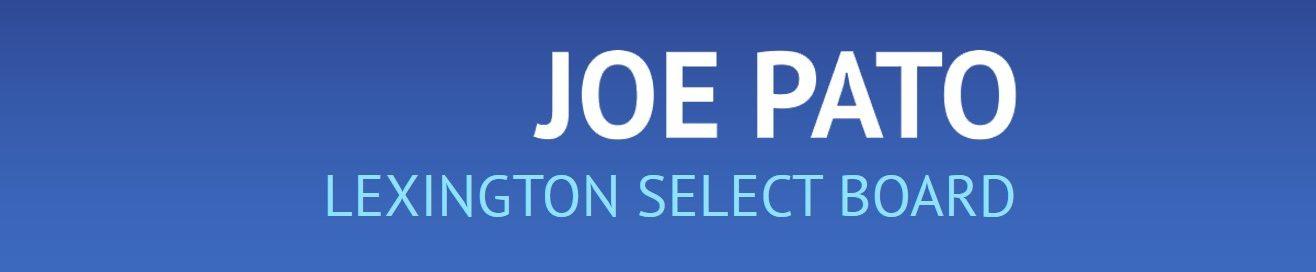 Joe Pato Lexington Select Board Member